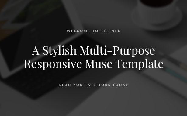 Refined - Responsive Multi-Purpose Muse Template - 2
